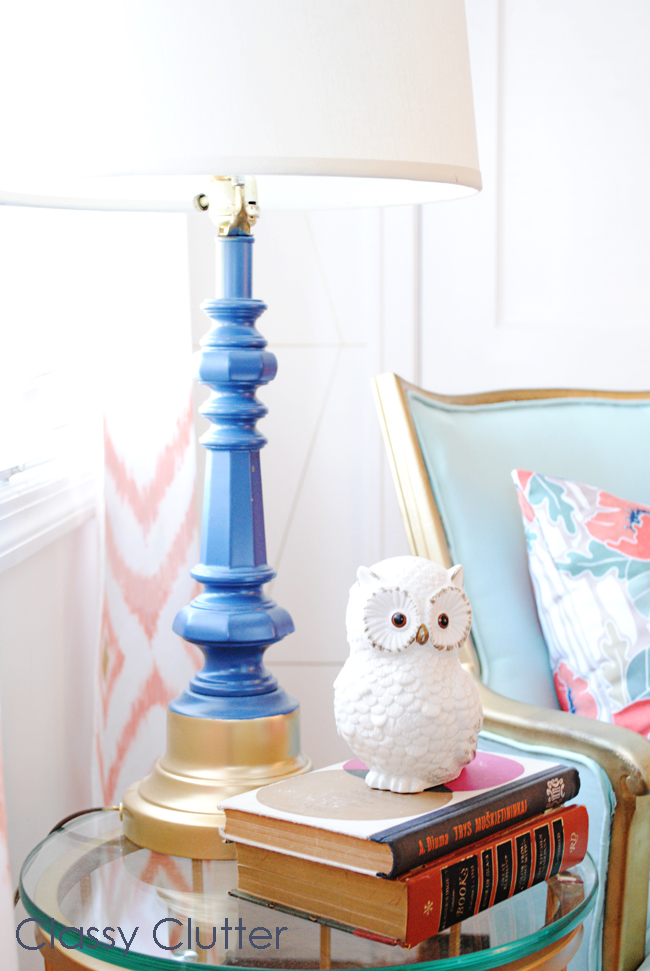 Gold and Navy Lamp