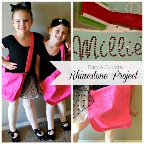 Custom Rhinestoned Dance Bags