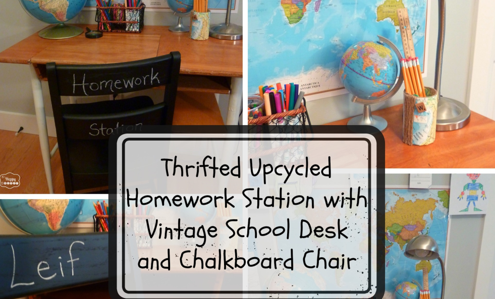 Thrifted-Upcycled-Homework-Station-with-vintage-school-desk-and-chair-with-faux-chalkboard-paint-at-thehappyhousie-collage-1024x1024