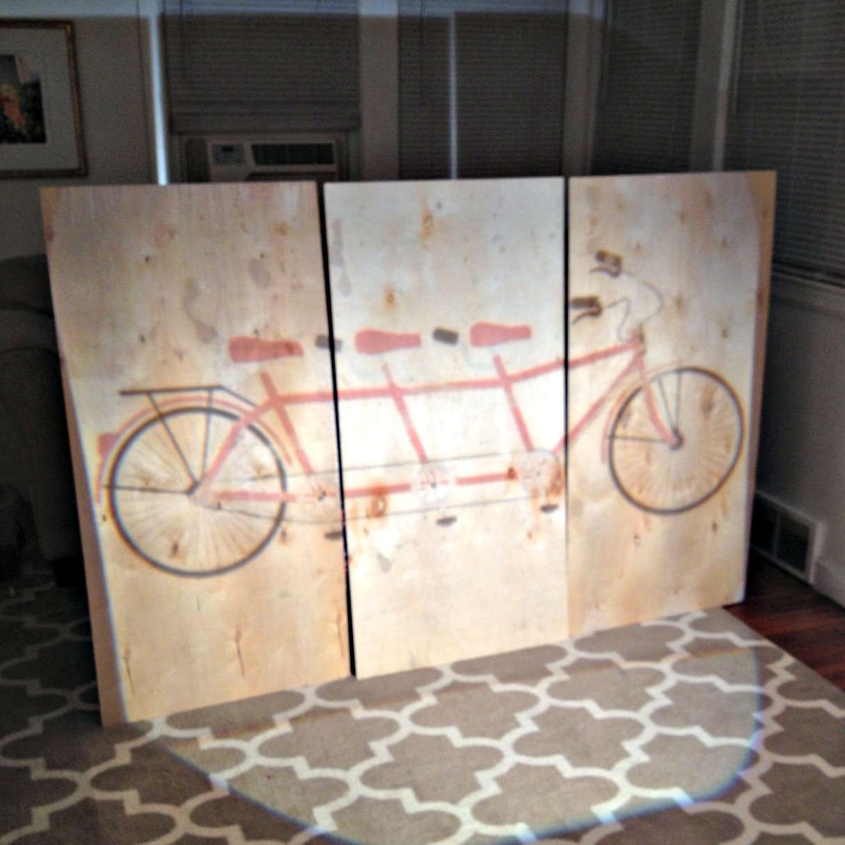 Bike Wall Art diy tandem bicycle wall art - classy clutter