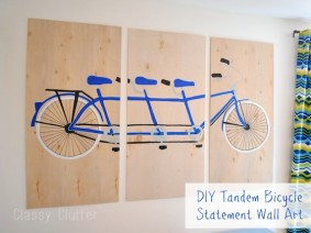 DIY Tandem Bicycle Wall Art