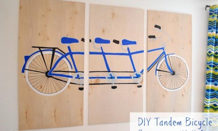 DIY Tandem Bicycle Wall Art
