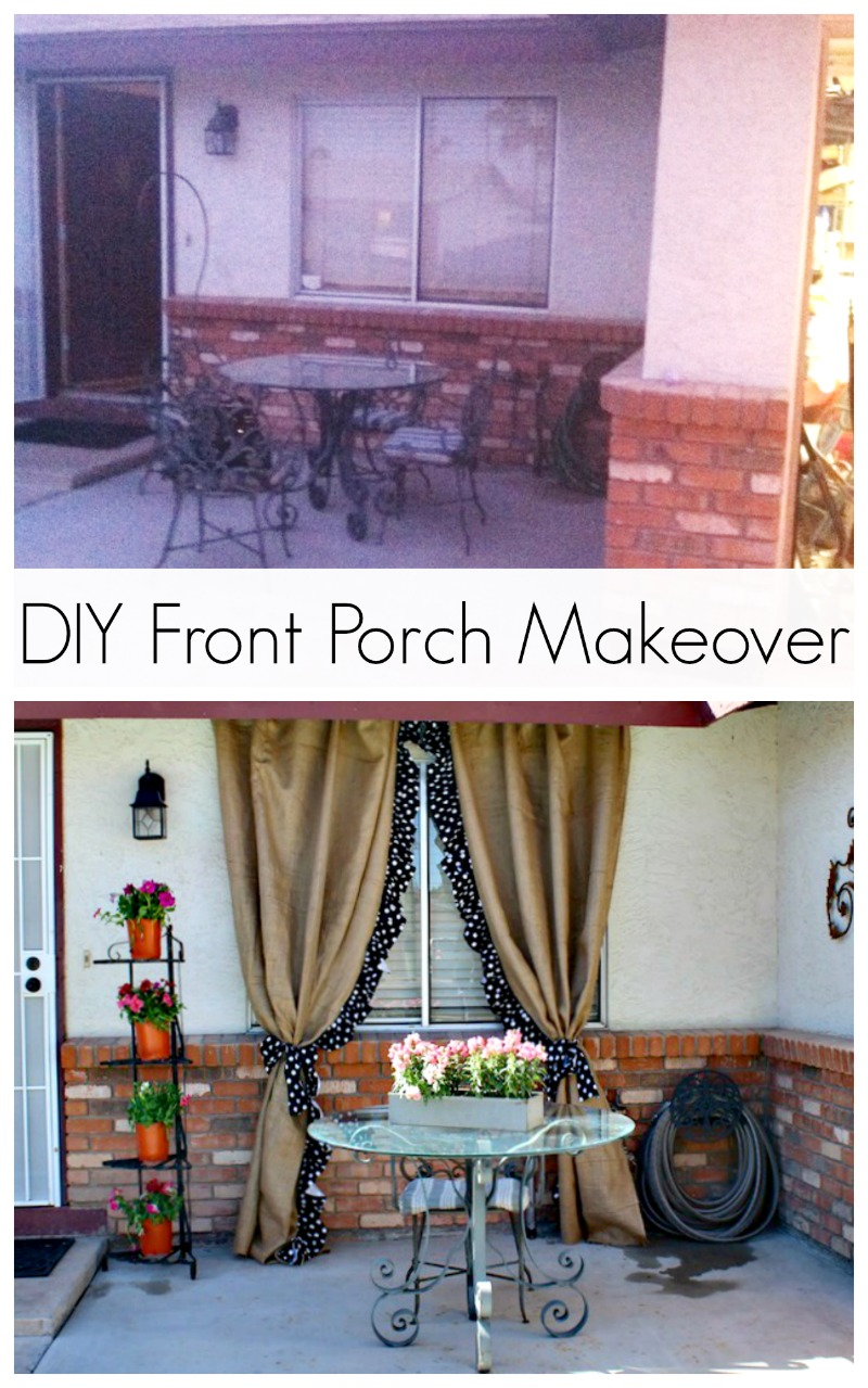 DIY Front Porch Makeover Classy Clutter - Front porch makeover ideas