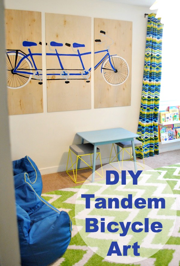 DIY Tandem Bike Art | www.classyclutter.net