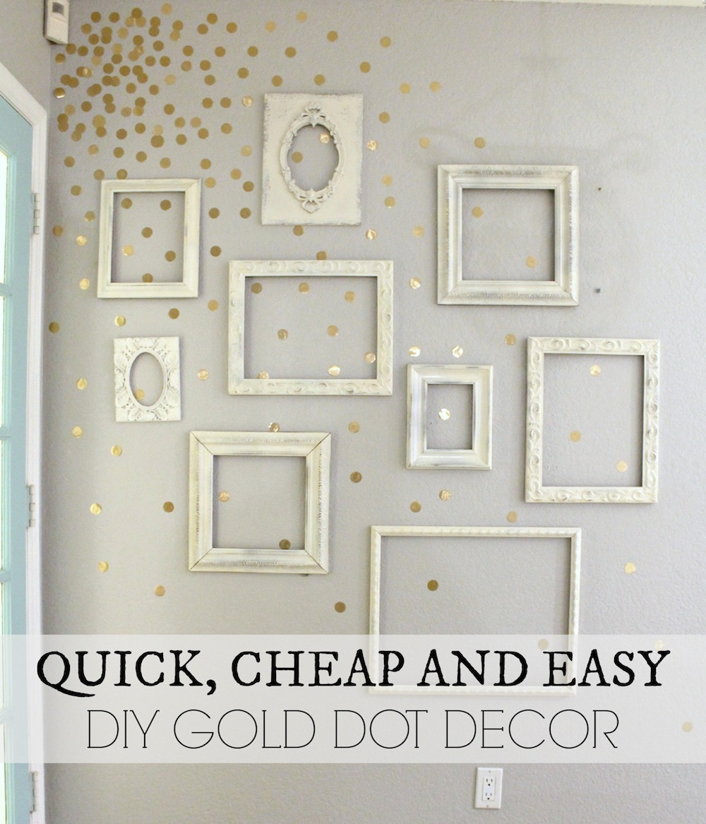 Inexpensive Wall Art Brilliant With Gold Polka Dot Walls Picture