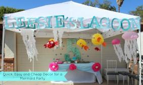 DIY Glittered Polka Dots and Mermaid Party Decor