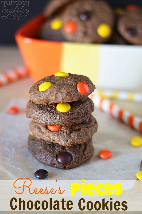 Reeses-Pieces-Chocolate-Cookies