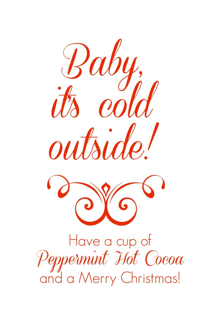 Peppermint hot cocoa in a jar free printables classy clutter hot cocoa tagg negle Choice Image