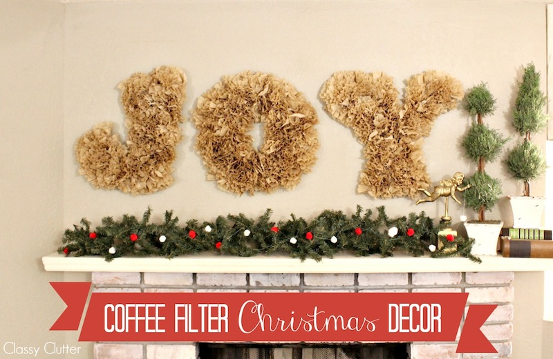 "Coffee Filter ""JOY"" letters"
