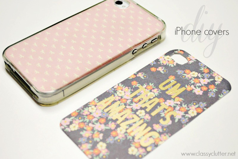 Diy iphone cases under 2 classy clutter for Homemade phone case