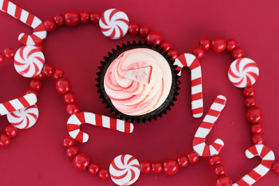 Christmas Treats - Candy Cane Cupcakes