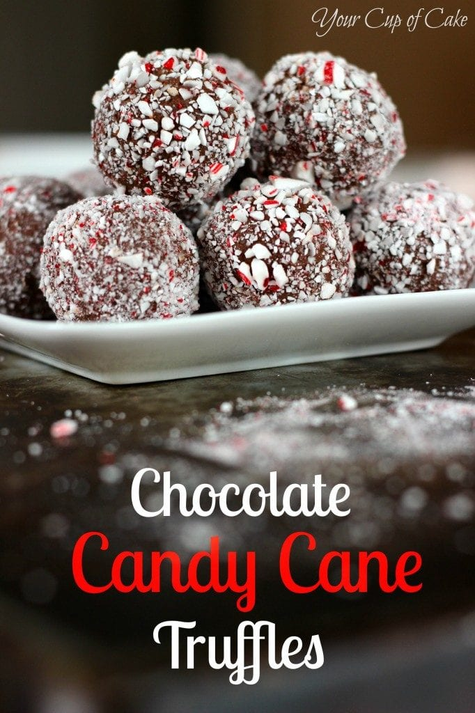 Christmas Treats - Candy Cane Truffles