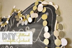 DIY Glittery Confetti Garland – So easy and cute!