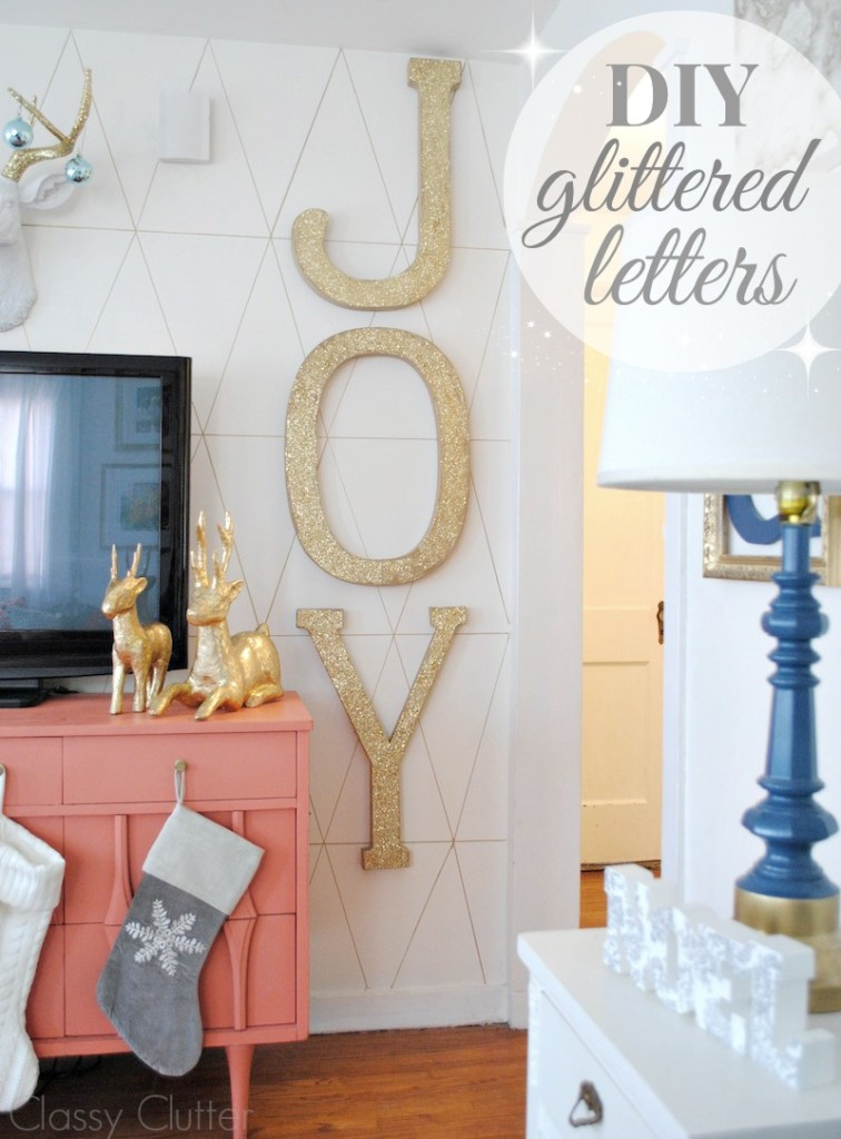 DIY glittered letters