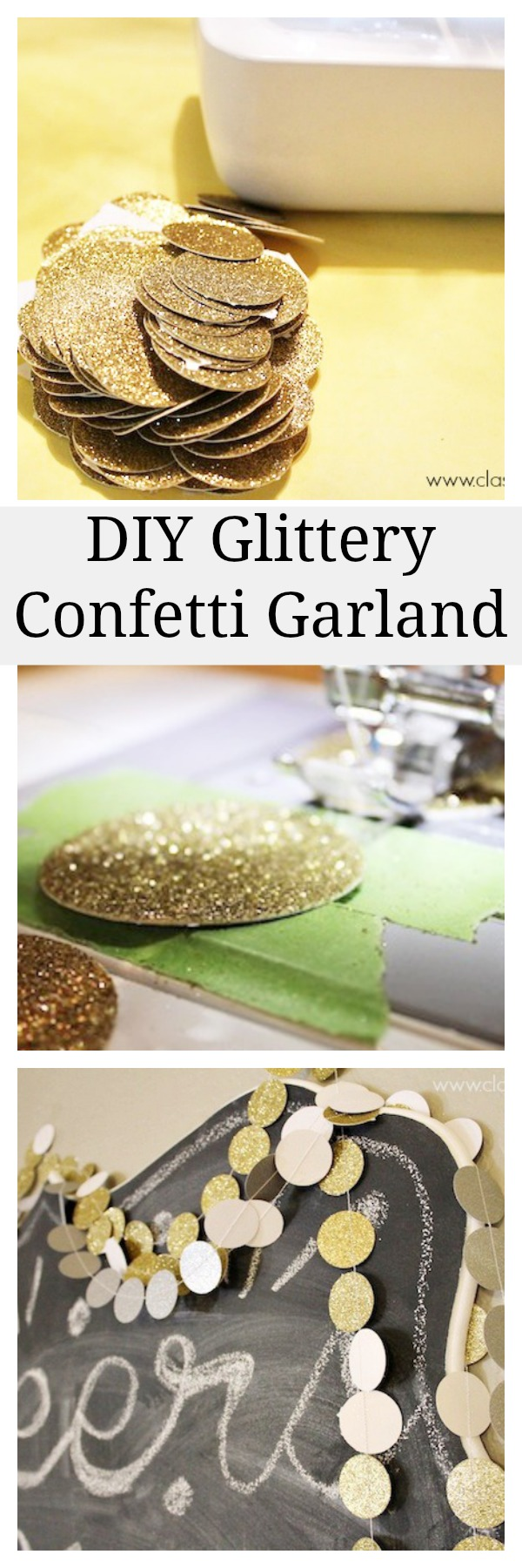Diy Glittery Garland