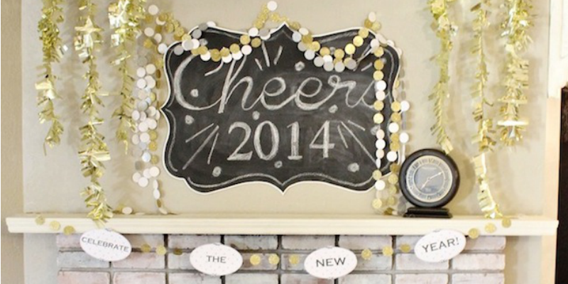 New Years Decor Ideas and a Free Printable Banner