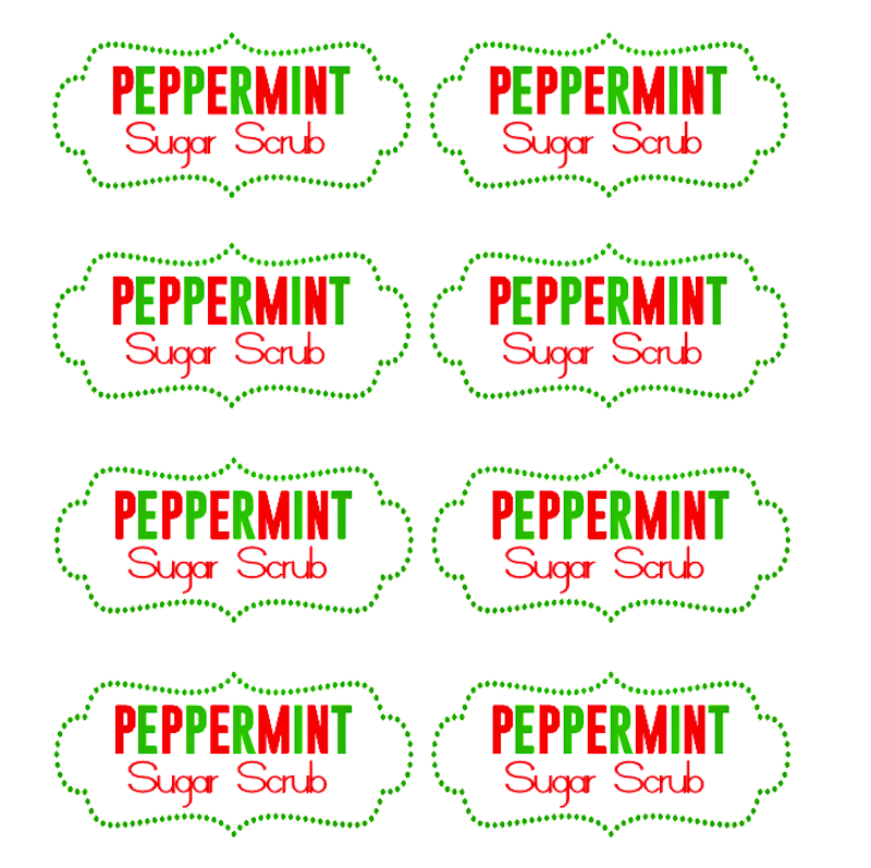 Diy Peppermint Sugar Scrub Recipe Free Printable Tags