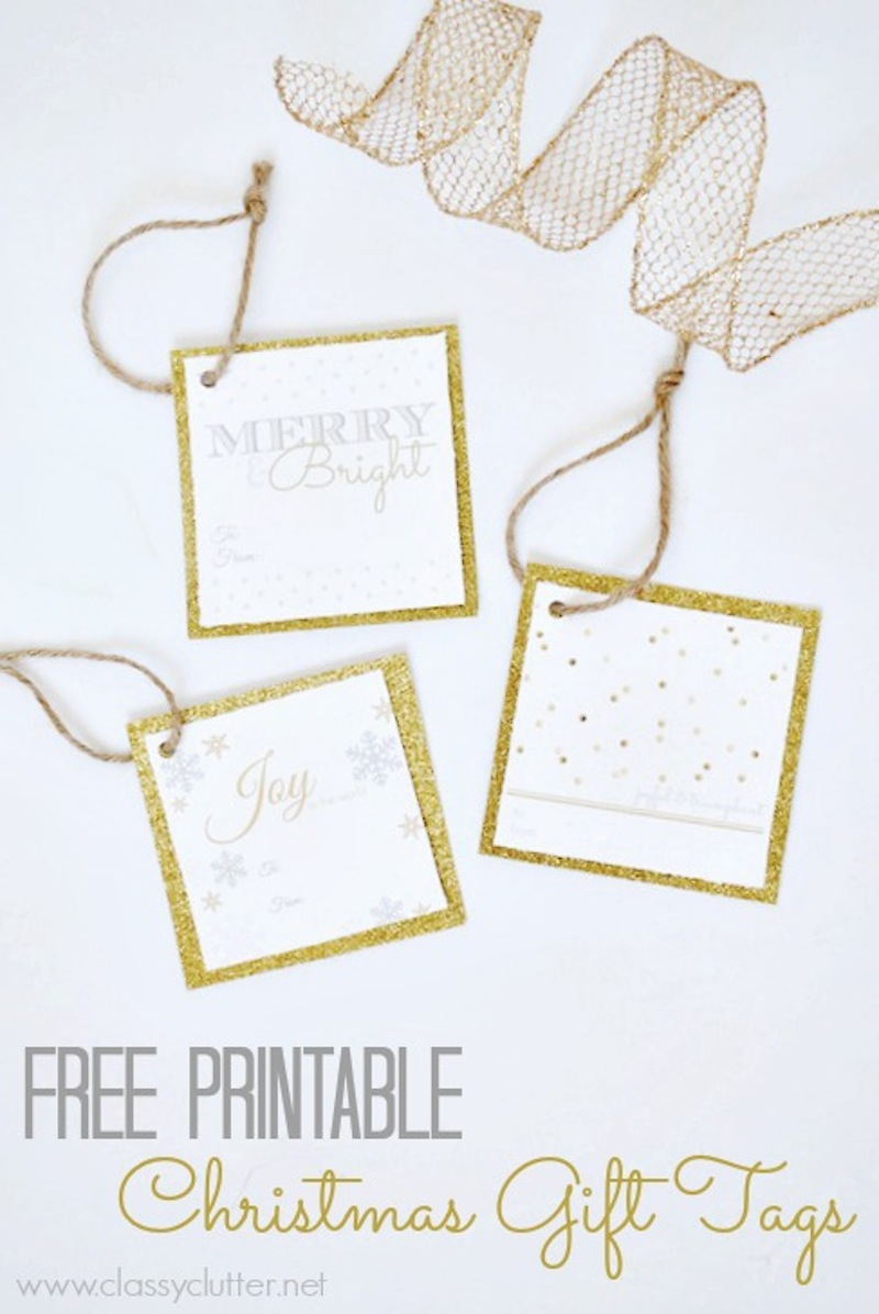 picture about Large Gift Tags Printable called Absolutely free Xmas Present Tags - 8 printable styles - Cly Litter