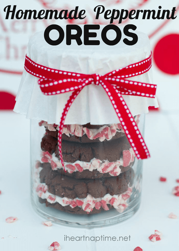 Christmas Treats - Homemade Peppermint Oreos