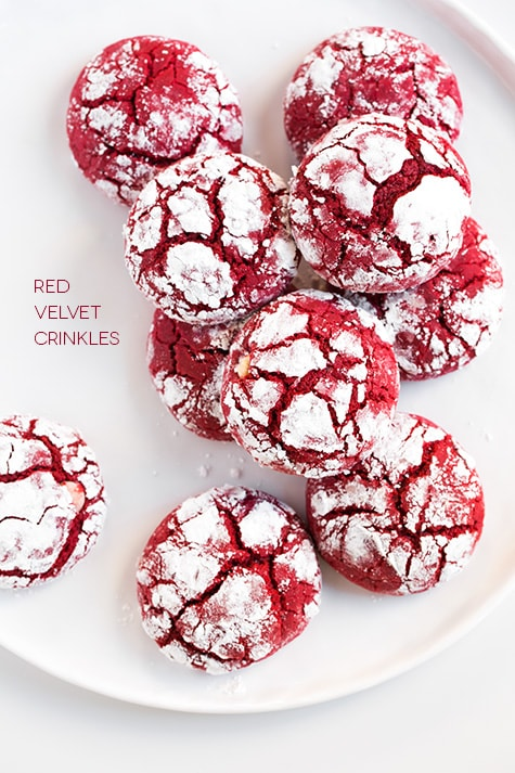 Christmas Treats - Red Velvet Crinkle Cookies