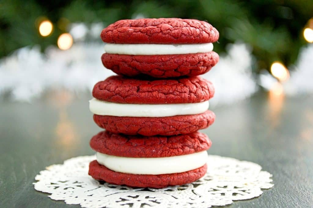 Christmas Treats - Red Velvet Whoopie Pies