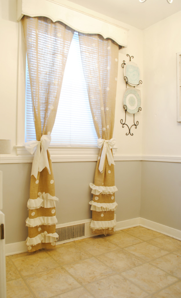Burlap Polka Dot Curtains