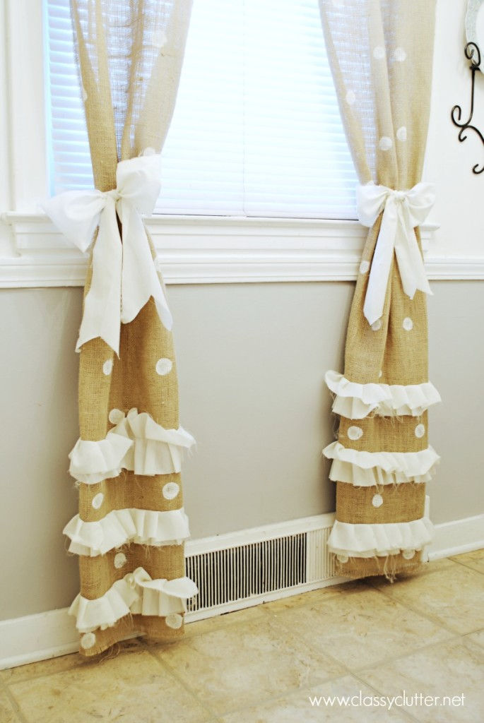 Burlap Polka Dot Curtains3