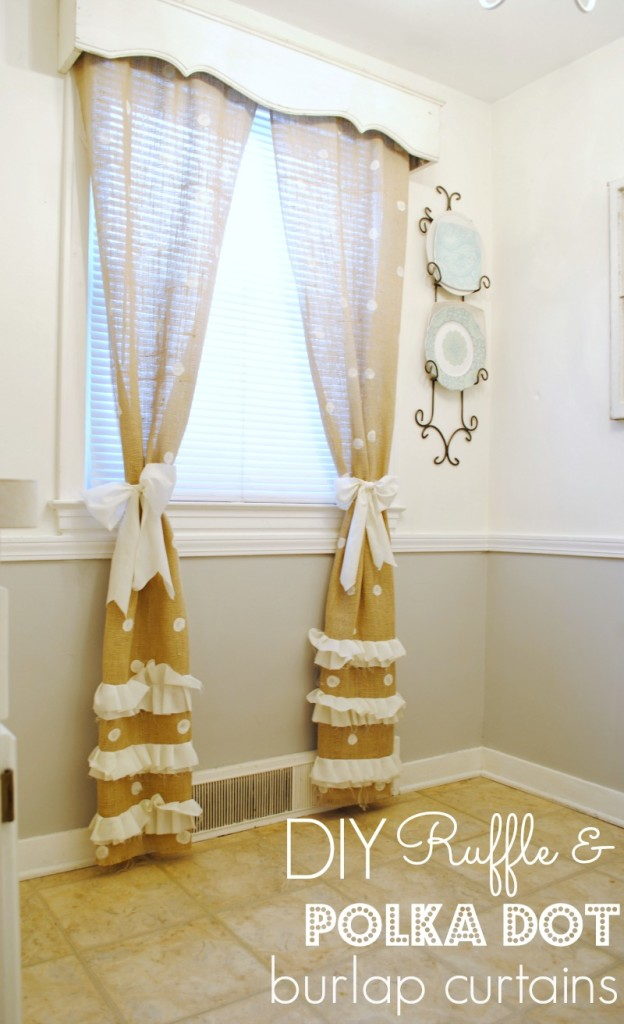 Burlap Polka Dot Curtains_Text