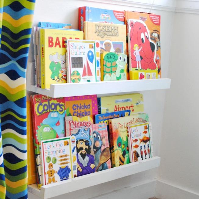 DIY $1 Book Ledges