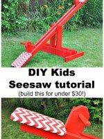 DIY Kids Seesaw