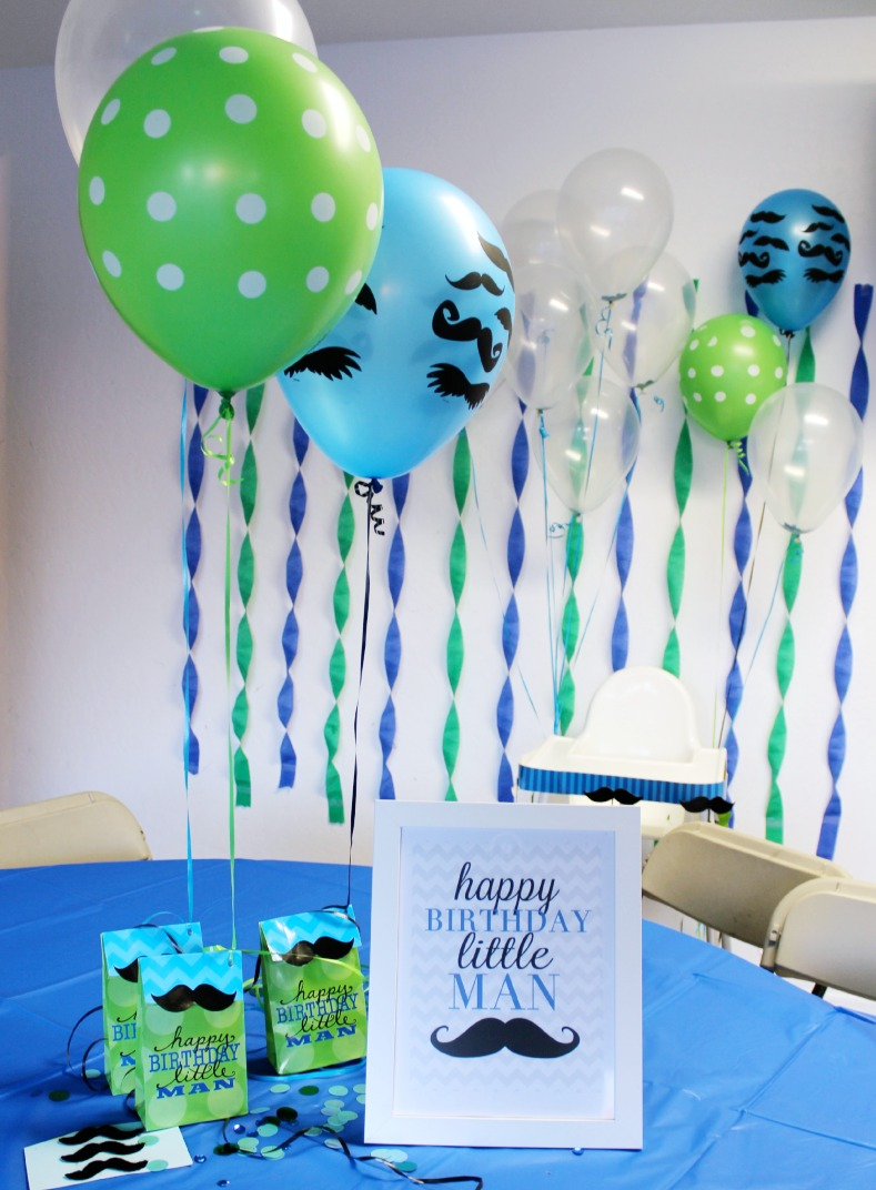 Quot Little Man Quot Mustache Birthday Party