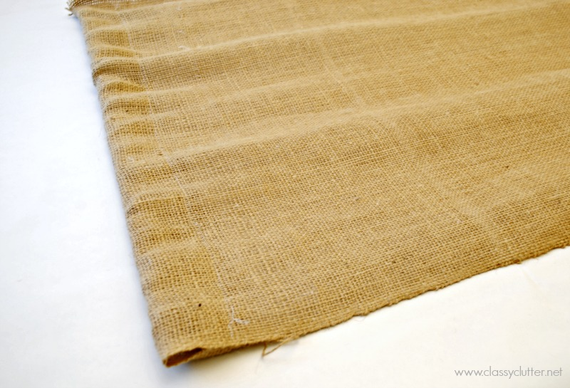 Lay Burlap Curtain on paper