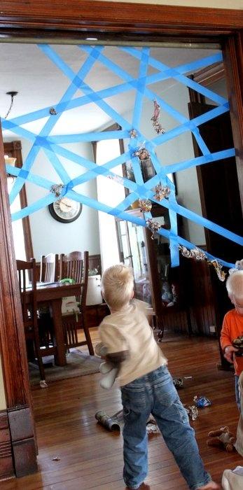 Painter's Tape Spider Web