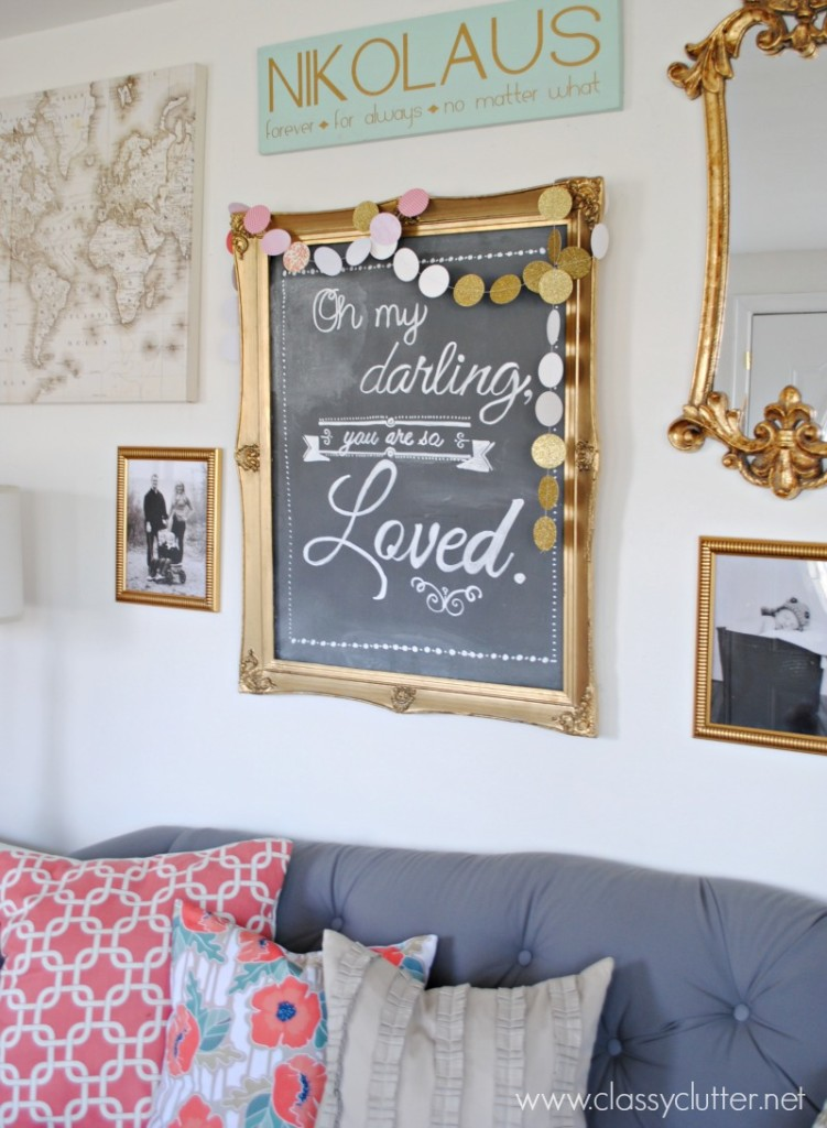 Printable Turned Chalkboard Art