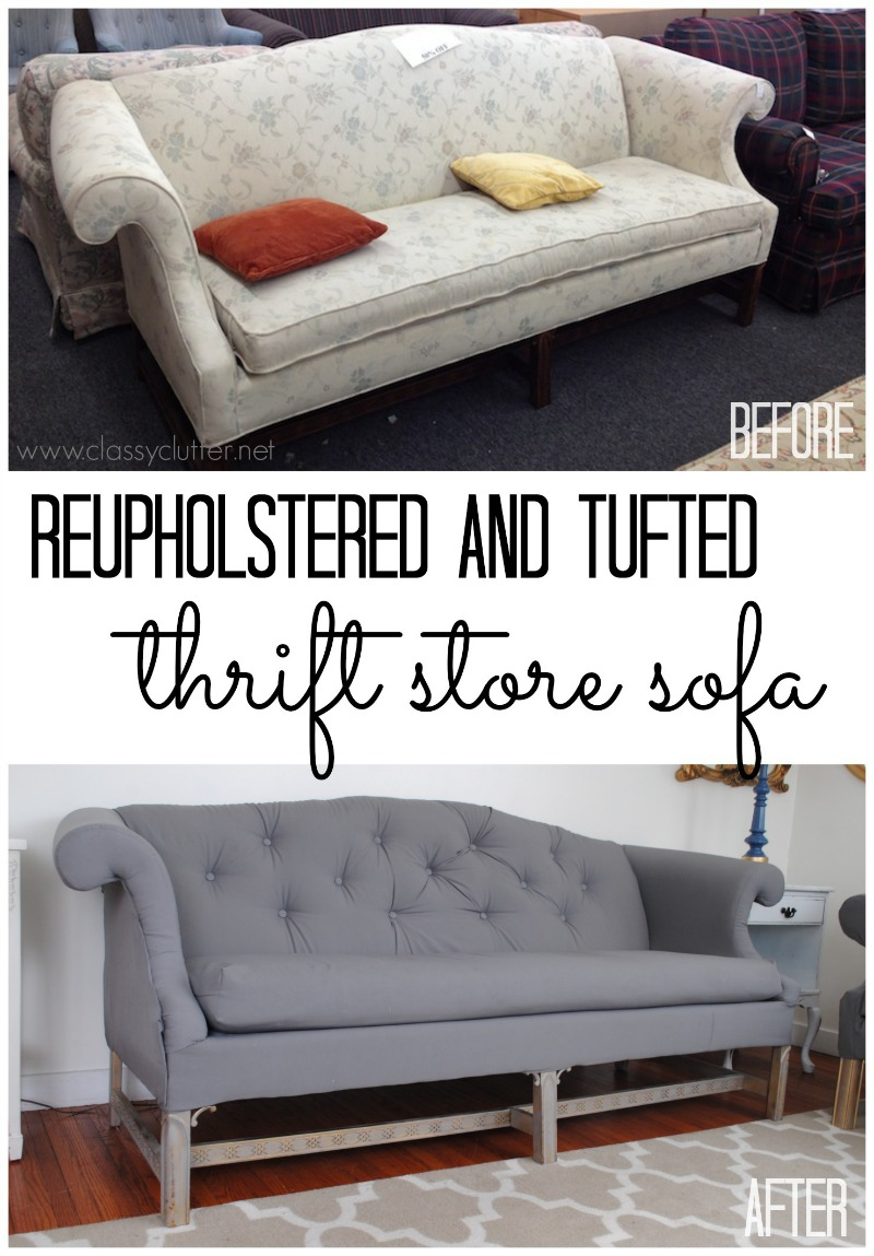 How to reupholster a sofa Reupholster loveseat