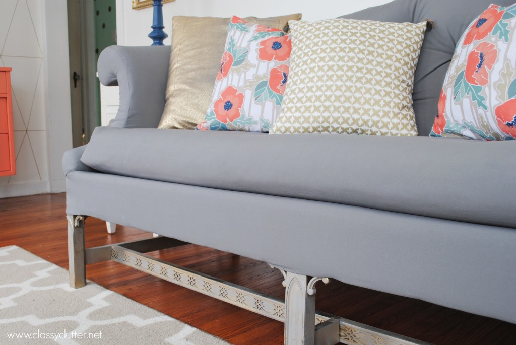 Thrift Store Sofa makeover