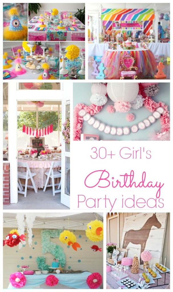 30+ Adorable girl's birthday parties | www.classyclutter.net