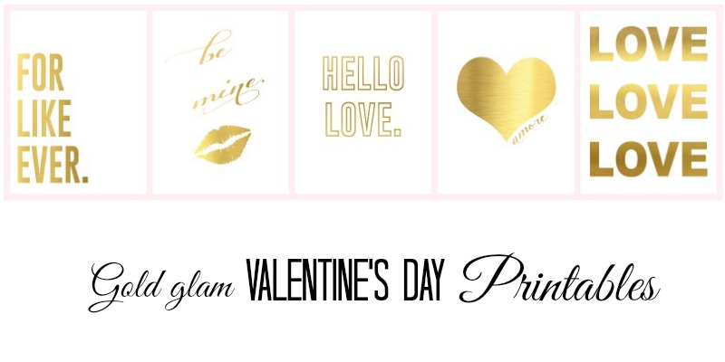 gold foil printables featured image