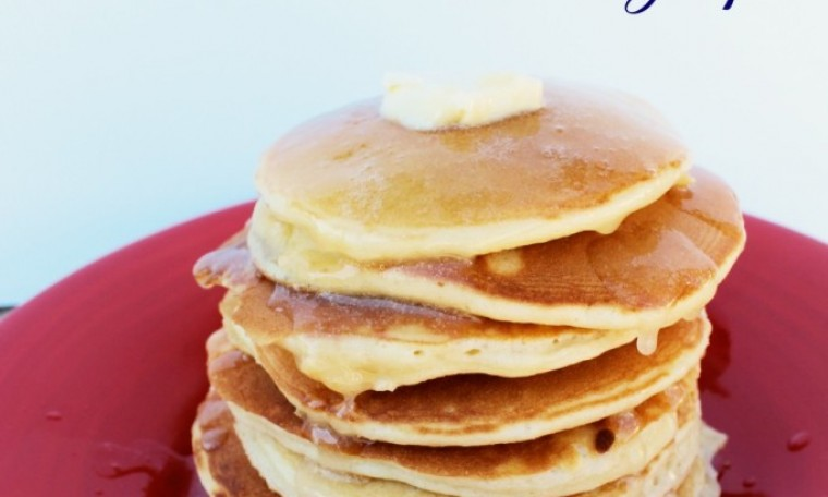 Easy Pancake Recipe with the BEST buttermilk syrup ever!