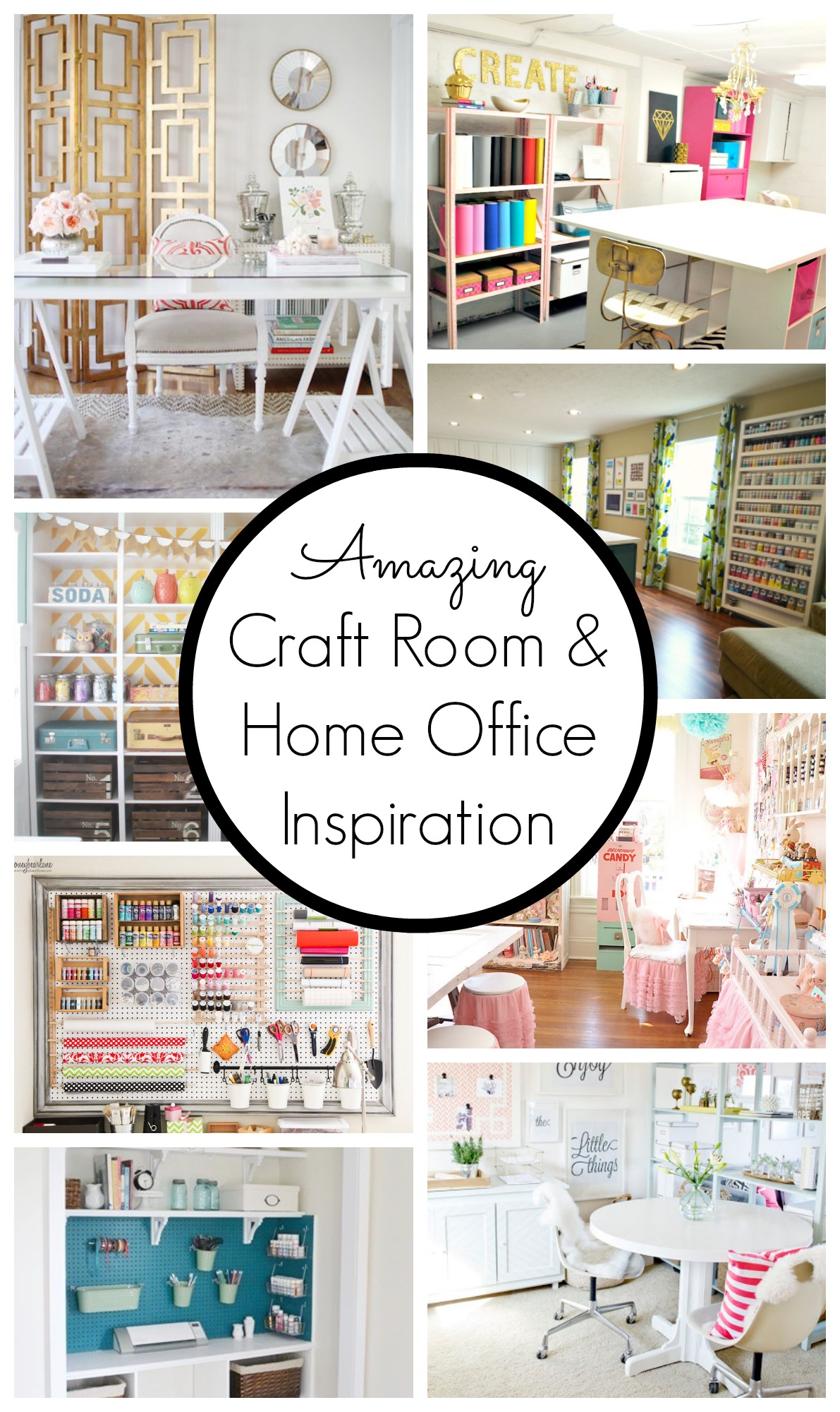 10 creative craft rooms and home offices classy clutter for Office inspiration