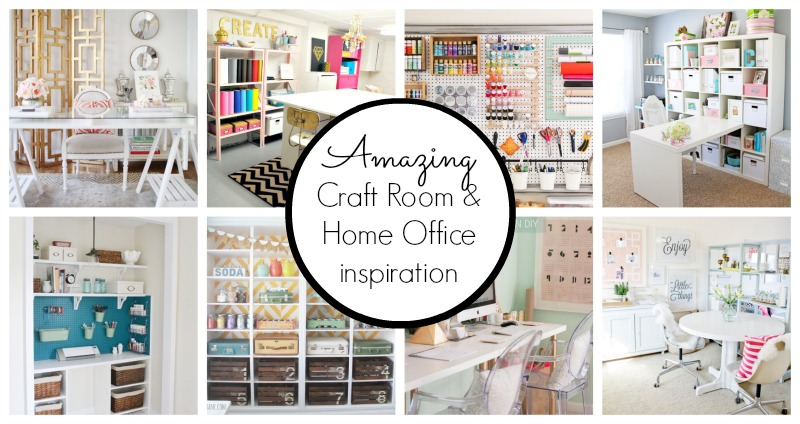 10 Creative Craft Rooms And Home Offices Classy Clutter