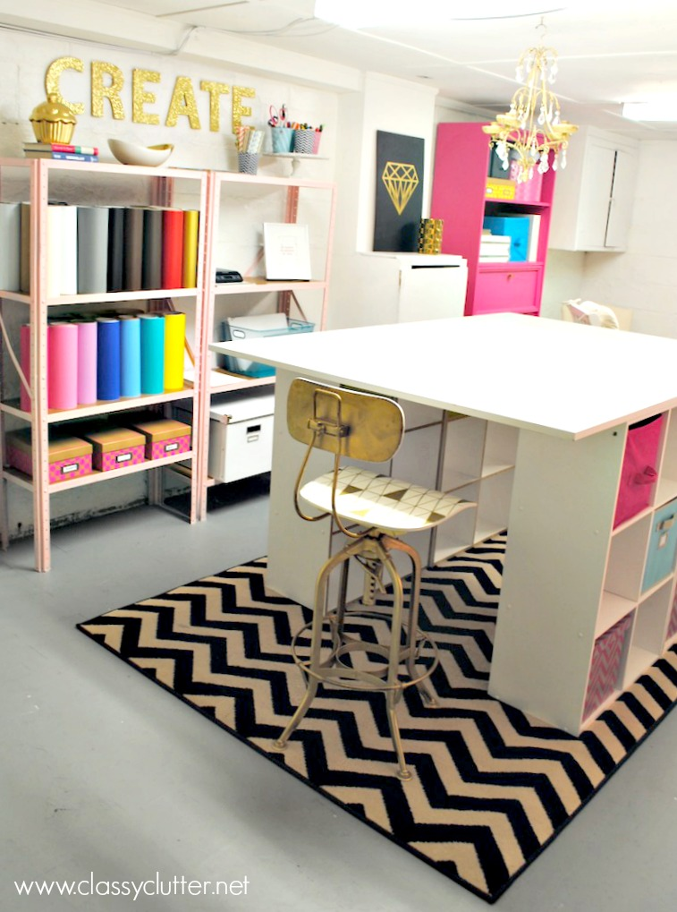 10 creative craft rooms and home offices classy clutter for Building a craft room