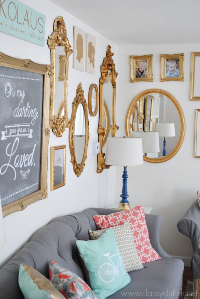 Gold Gallery Wall 4