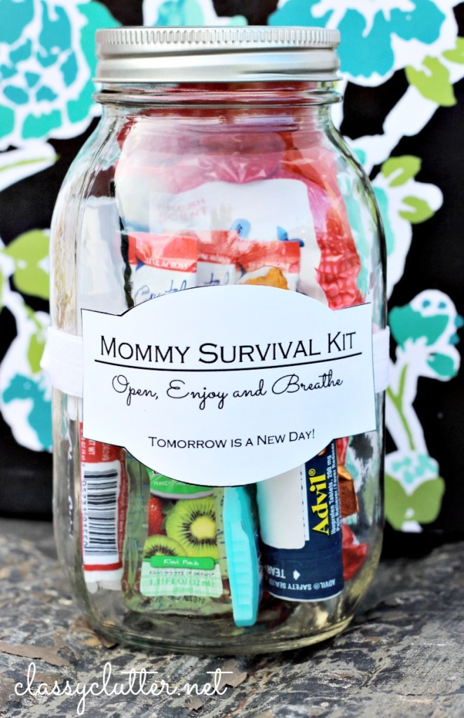 new mum survival jar
