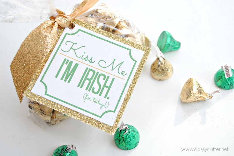 Kiss me I'm Irish for today treat bag