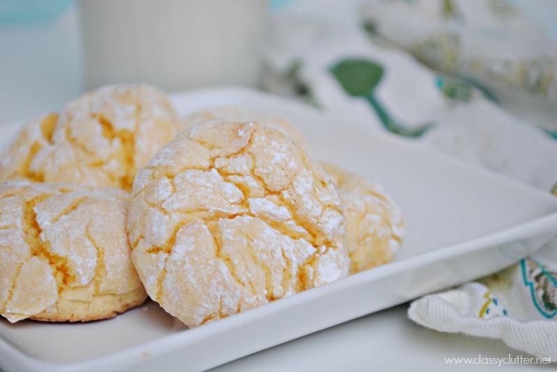 Lemon Crinkle Cookies Yellow Cake Mix