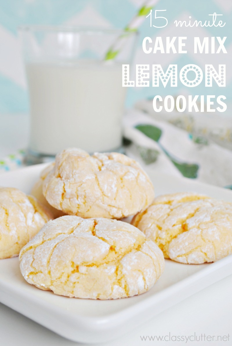 Lemon Bar Cookies Made From Cake Mix