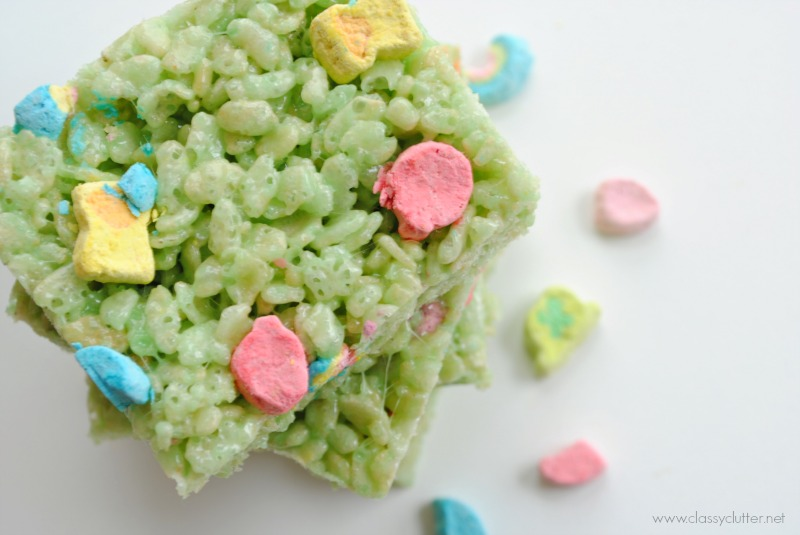 St Patricks Day Rice Krispie Treats