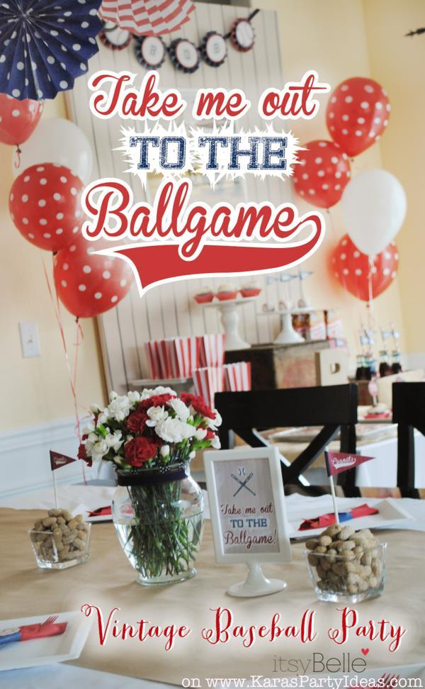 Take Me Out To The Ballgame BASEBALL Themed