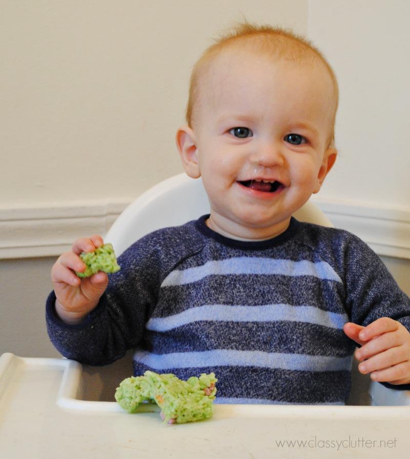 Tanner loves Rice Krispie Treats